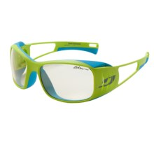 Julbo Tensing Flight Sunglasses - Polarized, Photochromic, Interchangeable Lenses in Yellow Blue/Zebra Light/Polar - Closeouts