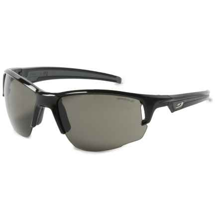 Julbo Venturi Sunglasses - Spectron 3 Lenses in Shiny Black/Silver Flash - Overstock