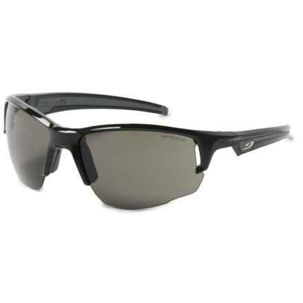 Julbo Venturi Sunglasses - Spectron 3 Lenses in Shiny Black/Silver Flash - Overstock