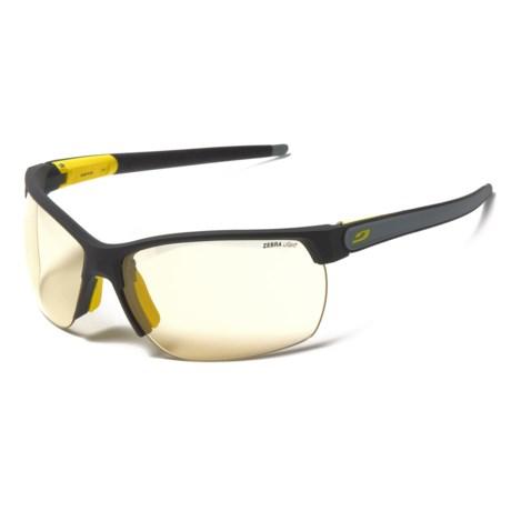 Julbo Zephyr High-Performance Sunglasses - Zebra Photochromic Lenses in Matte Black/Grey/Yellow