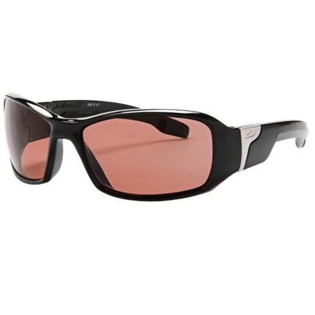 Julbo Zulu Sunglasses - Polarized, Photochromic Falcon Lenses in Shiney Black/Falcon
