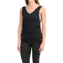 Just One Seamless 2-Fer Tank Top - Built-In Sports Bra (For Women) in Black/Light Heather Grey - Closeouts