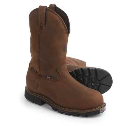 "Justin Boots 11"" Stag Gaucho Work Boots - Insulated, Composite Safety Toe, Leather (For Men) in Gaucho - Closeouts"