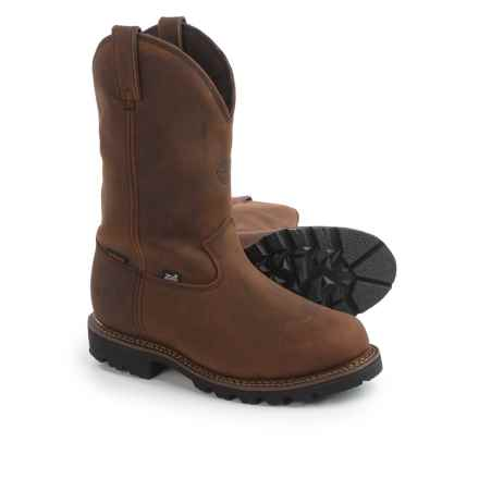 "Justin Boots 11"" Stag Gaucho Work Boots - Waterproof, Insulated, Leather (For Men) in Gaucho - Closeouts"