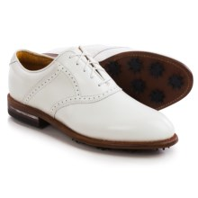 Justin Boots Albatross Saddle Golf Shoes - Leather (For Men) in White - Closeouts
