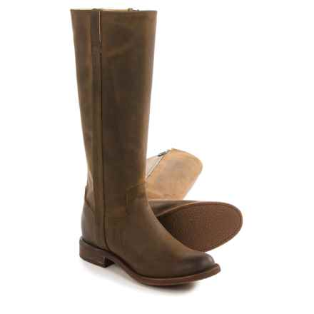 "Justin Boots Bay Apache Fashion Riding Boots - 15"", Round Toe (For Women) in Brown - Closeouts"