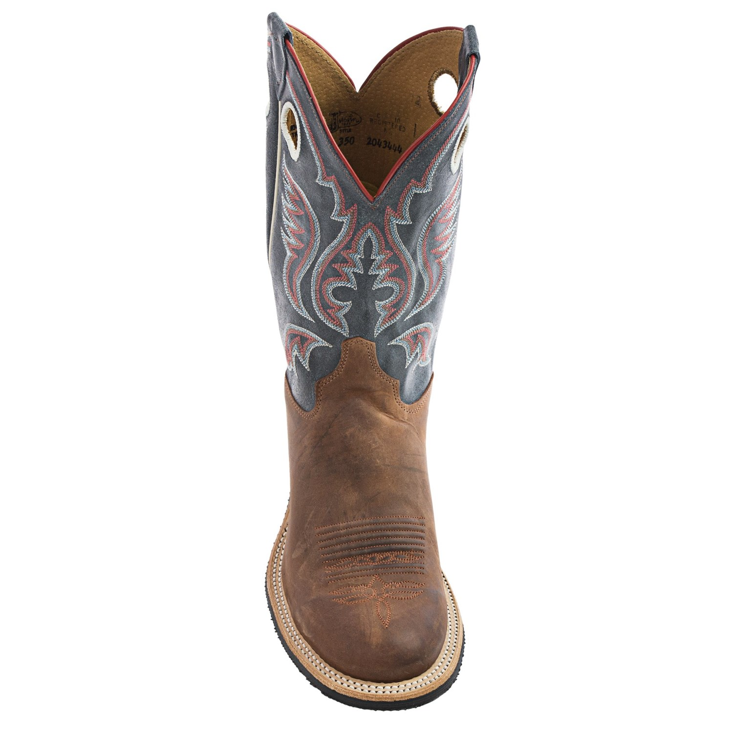 justin men Justin men's milo western boots heel: z unit height: 12 insole: j-flex flexible comfort system® with removable orthotic insert and justin.