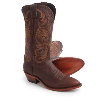 "Justin Boots Bordo Moro Buffalo Cowboy Boots - 13"", J-Toe (For Men) in Brown - Closeouts"