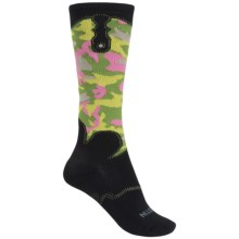 Justin Boots Camo Gypsy Boot Socks - Over the Calf (For Women) in Black Camo - Closeouts