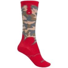 Justin Boots Camo Gypsy Boot Socks - Over the Calf (For Women) in Brick Red Camo - Closeouts