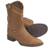 Justin Boots Coffee Westerner Cowboy Boots - J27-Toe (For Women) in Coffee - Closeouts
