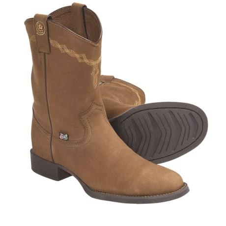 Justin Boots Coffee Westerner Cowboy Boots - J27-Toe (For Women) in Coffee