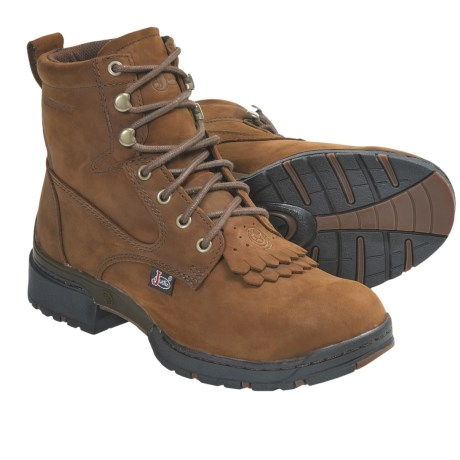 Justin Boots Coffee Westerner Lace-Up Boots - Waterproof, J17-Toe (For Women) in Coffee