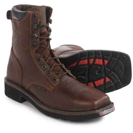 Justin Boots Composite Toe Lace-Up EH Work Boots (For Men) in Rustic Barnwood - Closeouts