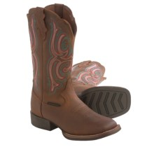 Justin Boots Copper Kettle Buffalo Cowboy Boots - Leather (For Women) in Brown - Closeouts