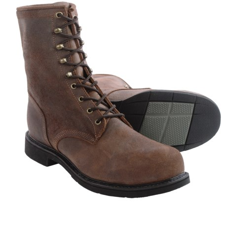 Justin Boots Dark Mountain Leather Work Boots - Steel Safety Toe (For Men) in Brown