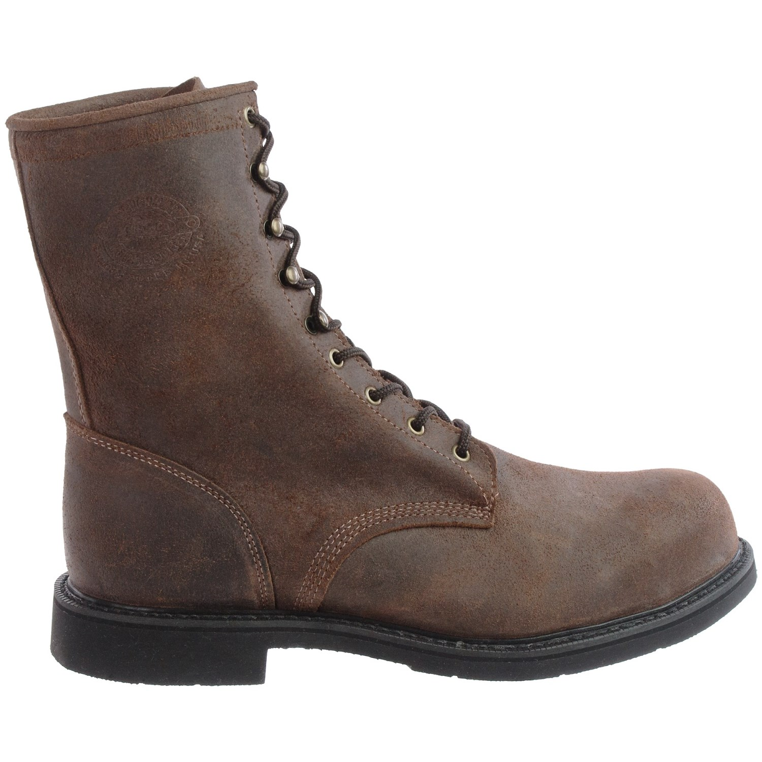 Justin Boots Dark Mountain Leather Work Boots (For Men ...