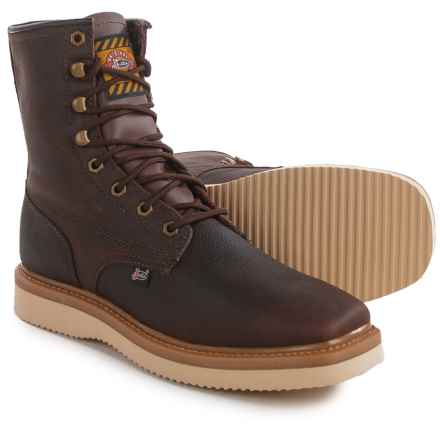 Justin Boots Flakeboard Work Boots - Leather (For Men) in Brown - Closeouts