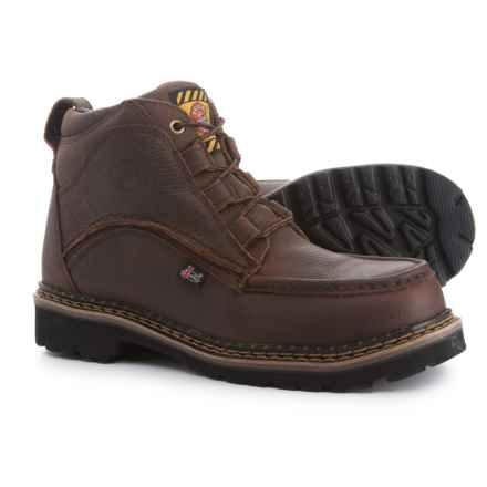 "Justin Boots Founder 6"" Work Boots - Steel Safety Toe, Leather (For Men) in Rust - Closeouts"