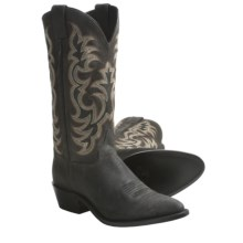 "Justin Boots Gaucho Cowboy Boots - 13"", J12 Medium-Round Toe, Leather (For Men) in Black - Closeouts"