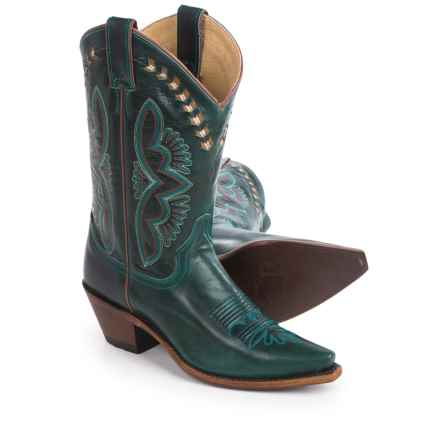 "Justin Boots L4302 Cowboy Boots - J-Toe, 13"" (For Women) in Dark Turquoise - Closeouts"