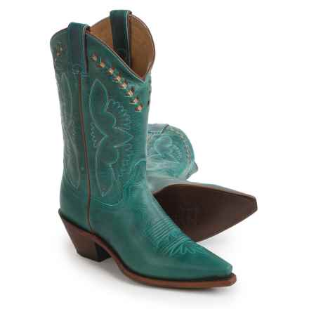 "Justin Boots L4302 Cowboy Boots - J-Toe, 13"" (For Women) in Turquoise - Closeouts"