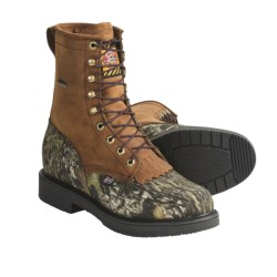 "Justin Boots Lace-R Gore-Tex® Hunting Boots - 8"", Waterproof (For Men) in Brown/Mossy Oak Break-Up"