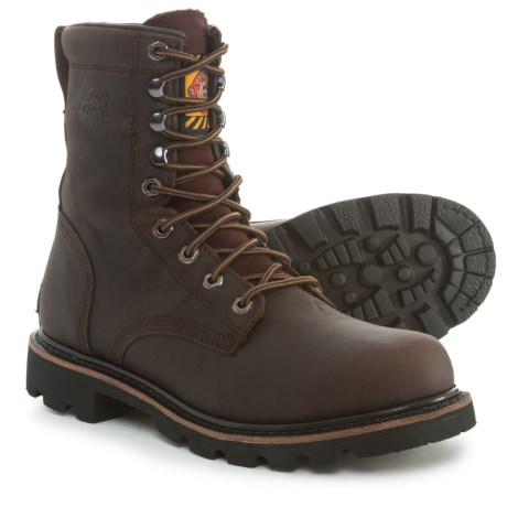 Justin Boots Miner Leather Work Boots - Waterproof (For Men) in Briar Bark 46f9be2377