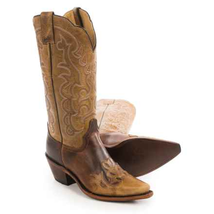 "Justin Boots Moka Damiana Cowboy Boots - 13"", Snip Toe (For Women) in Brown - Closeouts"