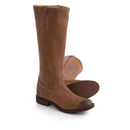 "Justin Boots MSL502 Tall Riding Boots - Leather, 15"" (For Women) in Tan - Closeouts"