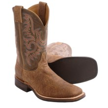Justin Boots Old Map Bent Rail Cowboy Boots - Leather, Square Toe (For Men) in Brown - Closeouts