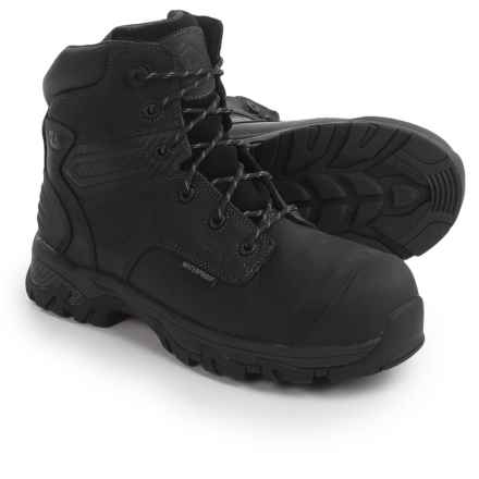 "Justin Boots Original 6"" Work Boots - Waterproof, Composite Toe (For Men) in Black - Closeouts"