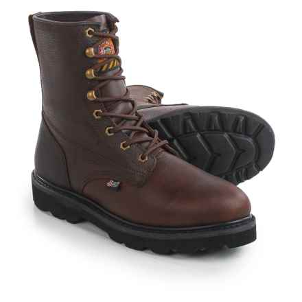 "Justin Boots Original 8"" Work Boots - Lace-Ups (For Men) in Brown - Closeouts"