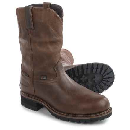 "Justin Boots Original Work Boots - Leather, 10"" (For Men) in Brown - Closeouts"