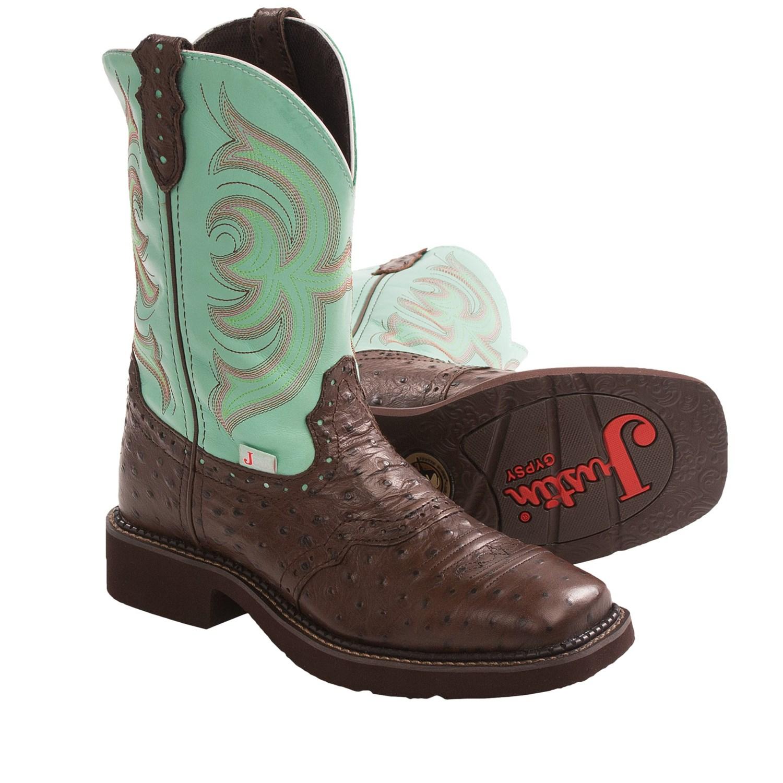 Amazing Justin Womenu0026#39;s Sevana Tan Cowgirl Boots - Square Toe ...
