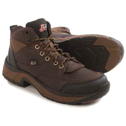 Justin Boots Pebbled Copper Kettle Stampede Utility Boots - Leather (For Women) in Brown - Closeouts