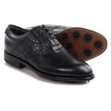 Justin Boots Phantom Golf Shoes - Caiman Saddle Leather (For Men) in Black - Closeouts