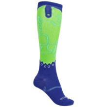Justin Boots Phoenix Gypsy Boot Socks - Over the Calf (For Women) in Kobalt/Kermit Green - Closeouts