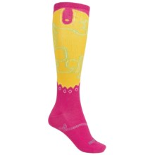 Justin Boots Phoenix Gypsy Boot Socks - Over the Calf (For Women) in Pink/Electric Yellow - Closeouts