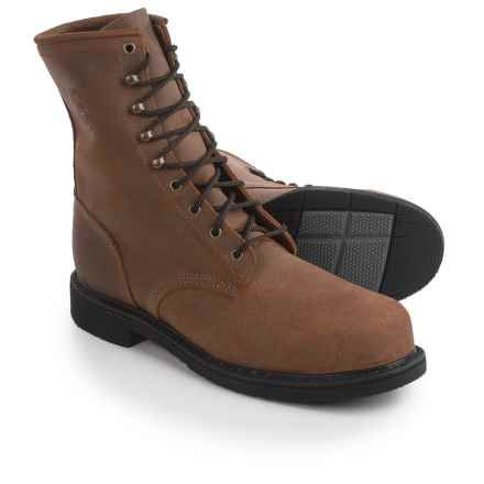 """Justin Boots Rusty Mountain Work Boots - Steel Safety Toe, Leather, 8"""" (For Men) in Brown - Closeouts"""
