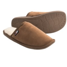 Justin Boots Slide Slippers - Faux Fur (For Men) in Tan - Closeouts