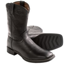 Justin Boots Stampede Cowboy Boots - Leather, Square Toe (For Men) in Black Deertan - Closeouts