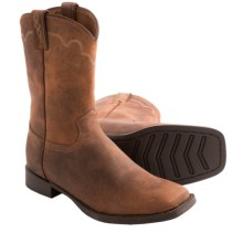 Justin Boots Stampede Cowboy Boots - Leather, Square Toe (For Men) in Rugged Tan Cow - Closeouts