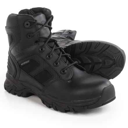 Justin Boots Steam EH Work Boots - Waterproof, Leather, Composite Toe (For Men) in Black - Closeouts