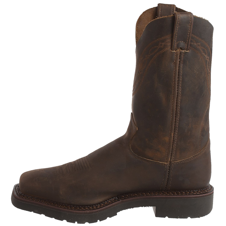 Justin Boots Sunderland Crazyhorse Cowboy Work Boots (For Men ...