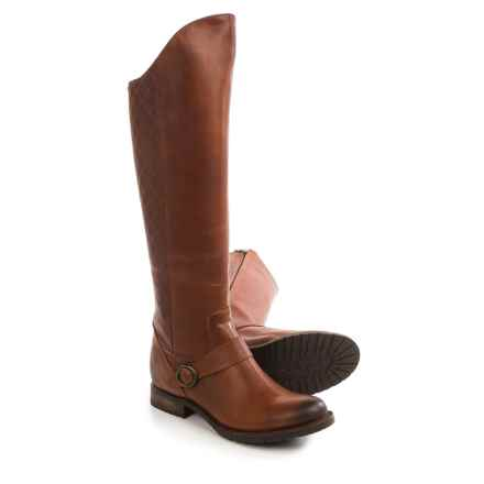 "Justin Boots Suntan Fashion Riding Boots - 17"", Round Toe (For Women) in Golden Tan - Closeouts"
