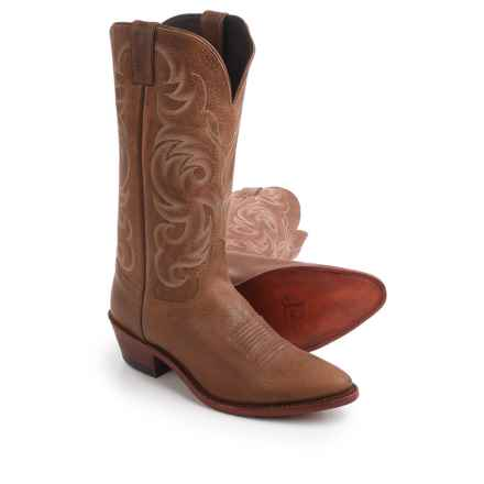 "Justin Boots Tyler Cowhide Cowboy Boots - 13"", J-Toe (For Men) in Tan - Closeouts"