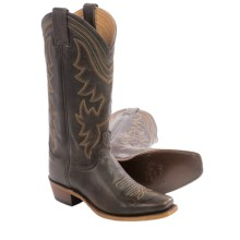 Justin Boots Waxy Cow Cowboy Boots - Square Toe (For Women) in Dark Brown - Closeouts