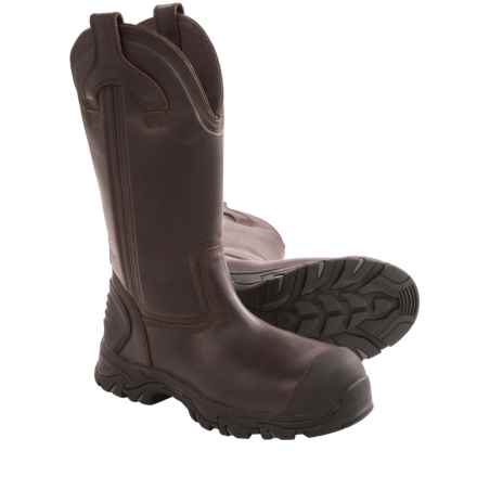 "Justin Boots Work-Tek Work Boots - Composite Safety Toe, 13"" (For Men) in Brawny Brown - Closeouts"