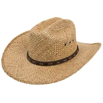 Justin Desperado Ranch Hat - Moroccan Straw (For Men) in Natural - Closeouts